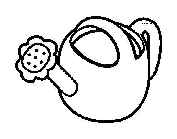 Watering can coloring page - Coloringcrew.com