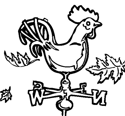 Weathercock coloring page