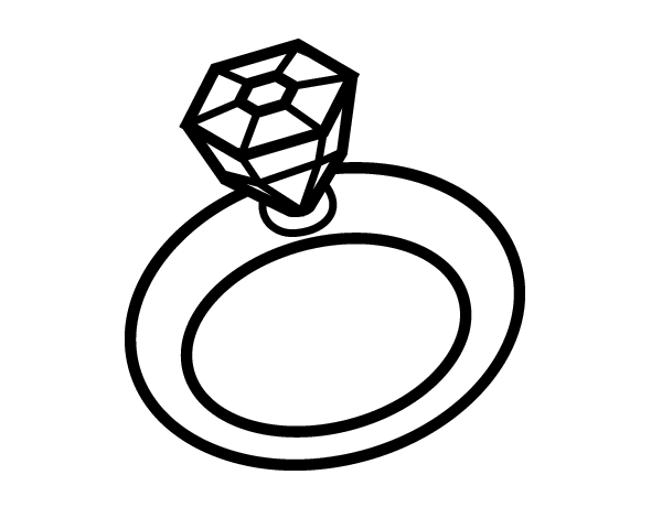 Coloring Pages Engagment Ring