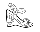 Wedge sandal coloring page