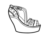 Wedge shoe coloring page