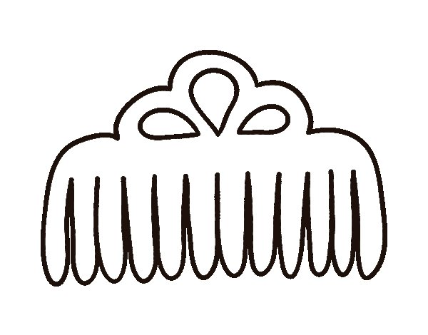 Wider tooth comb coloring page - Coloringcrew.com