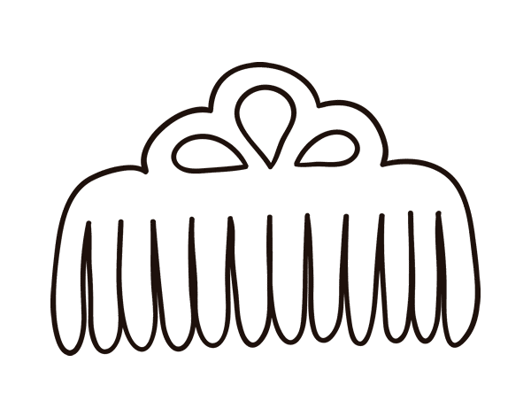 Free coloring pages of comb