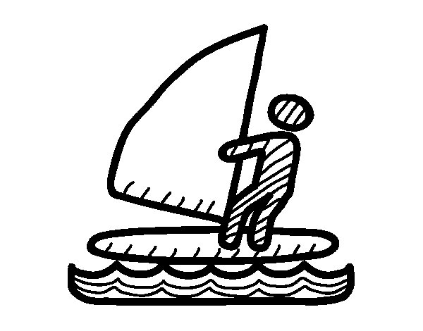 Windsurf signals coloring page