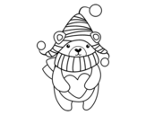 Winter love coloring page