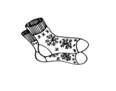 Winter socks coloring page