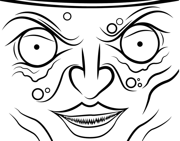 Witch face coloring page Coloringcrew