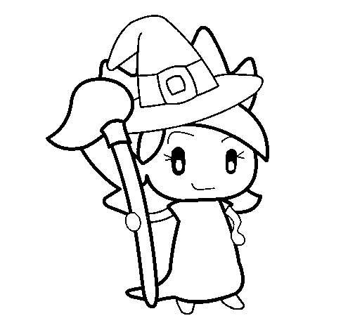 Witch Turpentine coloring page