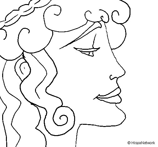 Woman's head coloring page