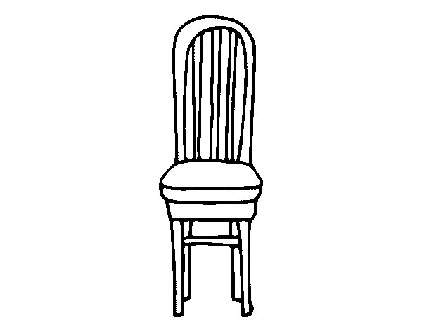 Wooden chair coloring page for Sillas para colorear