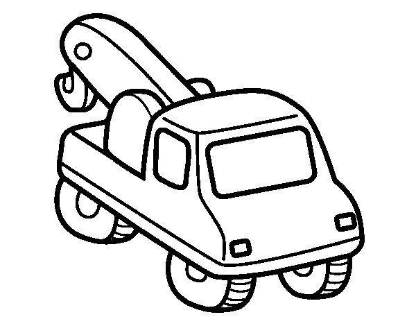 Wrecker coloring page