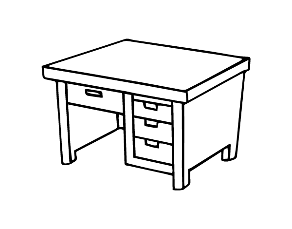 Writing desk coloring page - Coloringcrew.com