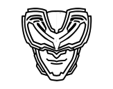 X-rays Mask coloring page