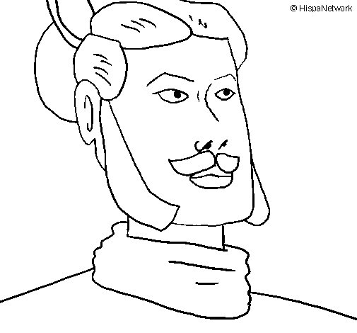 Xian warrior coloring page