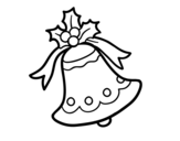 Xmas bell coloring page