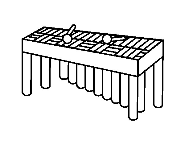 Xylophone orchestra coloring page