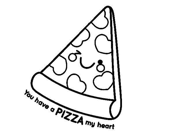 You have a pizza my heart coloring page