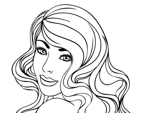 Young girl coloring page - Coloringcrew.com