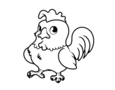 Young rooster coloring page