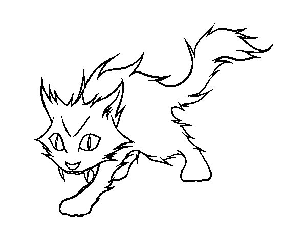 Yule cat coloring page