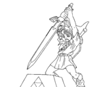Zelda coloring page