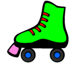 Coloring page Roller skate painted byivan