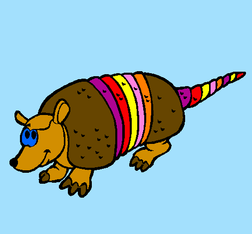 Coloring page Armadillo painted bywillsie