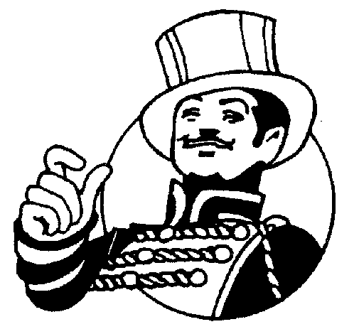 Coloring page Ringmaster painted bybg