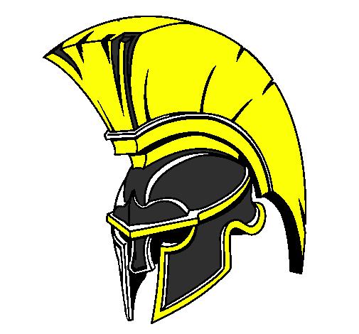 Coloring page Helmet painted bySpartan