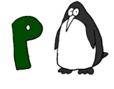 Coloring page Penguin painted byrenee