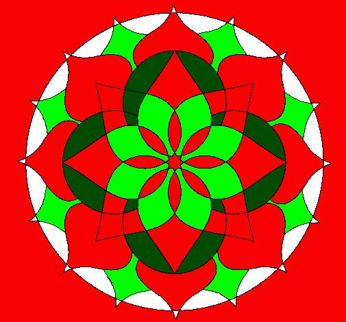 Coloring page Mandala 14 painted bylynn