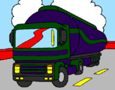 Coloring page Tanker painted byGeoff