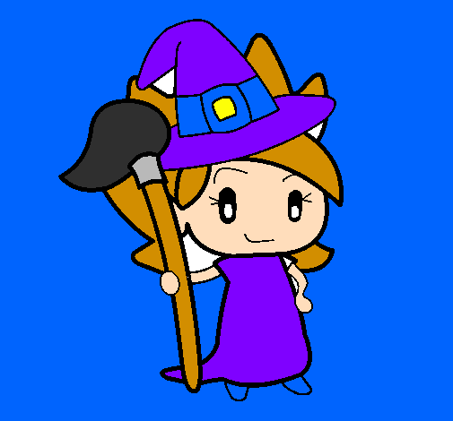 Coloring page Witch Turpentine painted bybrujillisas