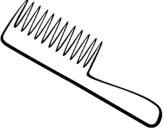 Coloring page Comb painted bypuff