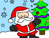 Coloring page Santa Claus painted bychiara