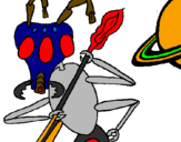 Coloring page Alien ant painted byethan