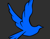 Coloring page Dove of peace in flight painted byluca