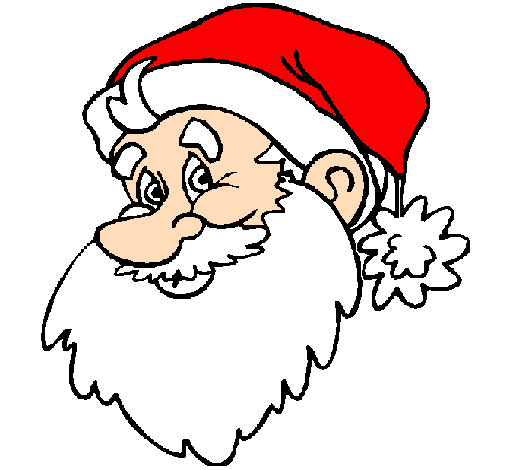 Coloring page Father Christmas face painted byfather