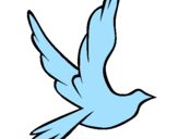 Coloring page Dove of peace in flight painted byraui