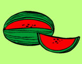 Coloring page Melon painted byclaudia