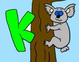 Coloring page Koala painted bykiemah
