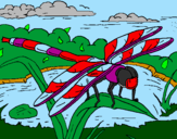 Coloring page Dragonfly painted byButtfly