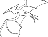Coloring page Pterodactyl II painted bynate did this tricerotop