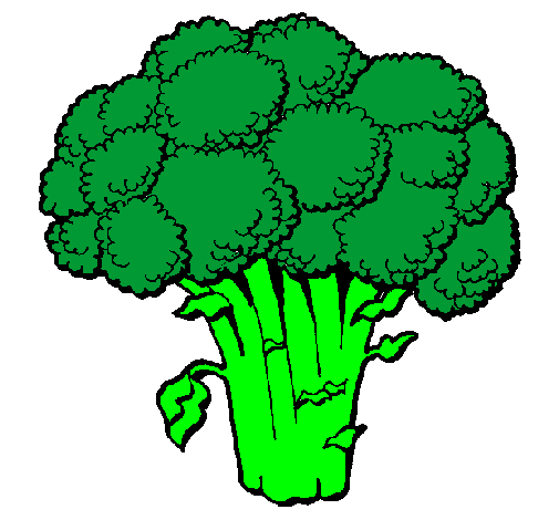 Colored page Broccoli painted by broccoli drawing