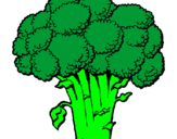 Coloring page Broccoli painted bybroccoli drawing