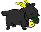 Coloring page Goat painted bymason stuart
