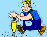 Coloring page Worker painted byJorge21