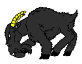 Coloring page Angry goat painted bymason stuart