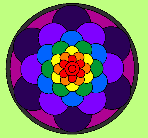 Colored Page Mandala 22 Painted By SNOOP DOG