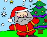 Coloring page Santa Claus painted byAlicia